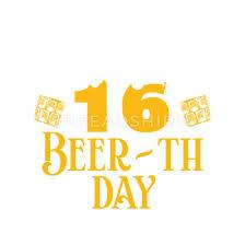 16 16 Geburtstag Geschenk Bier Beer Geschenkidee Iphone 7 8 Hülle