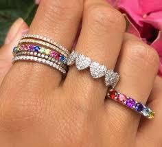Resultado de imagem para anel pedras coloridas PINTEREST
