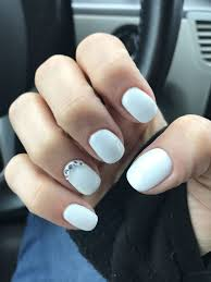Nail Art Designs On White Nails White Nails With Gems Ready For The Beach Flower Nail