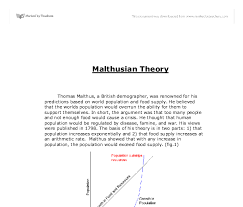 malthusian theory a level geography marked by teachers com document image preview