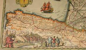 the way of st james insider's spain Camino De Santiago Map old map of 1648 which shows the french way to santiago de compostela (source camino de santiago mapa