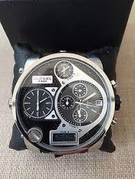 diesel little daddy dz7292 wrist watch for men leather watches mens diesel big daddy watch bnib rrp £279