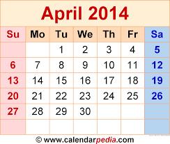 2021 free printable calendar with elegant monogram. April 2014 Calendar Templates For Word Excel And Pdf