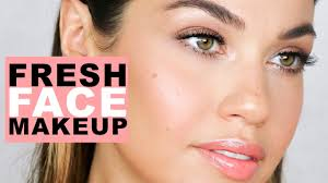 fresh face natural makeup flawless skin makeup tutorial eman you