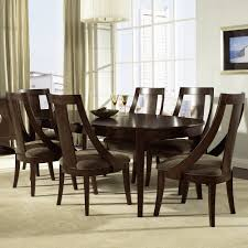 Oval Kitchen Table Sets Cirque Wood Oval Dining Table Chairs In Merlot By Somerton