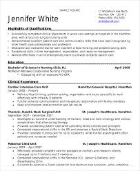 Nursing Student Resume Examples Amazing Nursing Student Resume Example 28 Free Word PDF Documents