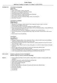 Masonry Resume Template Concrete Resume Samples Velvet Jobs 6