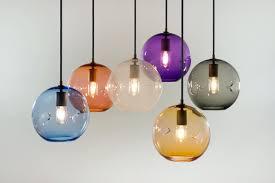 hand blown glass lamp shades keep lighting poke pendant