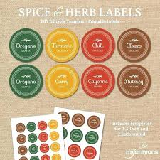 Spice Jar Labels Printable Best Round Labels And Label Template Images On Printable Christmas