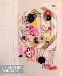 Diy kids room Shelf Headband Organizer One Crazy House 16 Tricks To Organize Kid Rooms On Budget