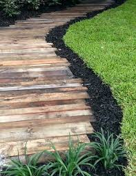 wooden walkways for garden the previous wood walkway but with neater edges and a wider path wooden walkways for garden