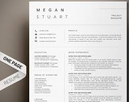 Resume Template Professional Resume 1 Page Resume Modern Resume Cv Template Cover Letter One Page Resume Minimal Simple Resume Format