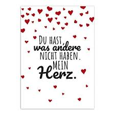 Postkarte Lieber Spruch Mit Herzenmoderne Karte Mit Umschlag