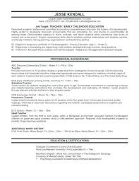 Resume Template For Education Best Resume Of A Teacher Professional Dancer Resume Template Acting