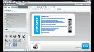 How To Build Your Own Label Template In Dymo Label Software Youtube