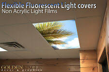 Office ceiling light covers Opening Flexible Fluorescent Light Cover Films Skylight Ceiling Office Medical Dental 73 Frompolandinfo Fluorescent Light Covers Ebay