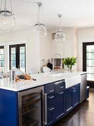 Inspiration for a mid-sized transitional galley dark wood floor open  concept kitchen remodel in