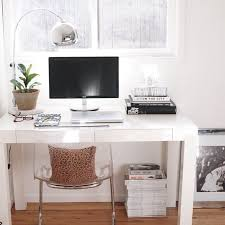 nice home office feat west elm s parsons desk