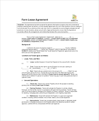 Farm Property Lease Agreement Template 7 Land Lease Templates Free ...
