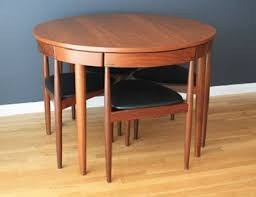Mid century modern kitchen table Small Midcentury Modern Danish Hans Olsen Teak Dining Table With Chairs This Table And Chairs Is So Cool And Space Saving Pinterest Midcentury Modern Danish Hans Olsen Teak Dining Table With Chairs