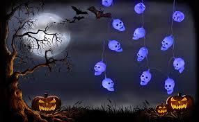 Outdoor Skull Lights Halloween Decorations Qualife Halloween Skull Lights 6 6ft