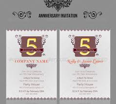 Corporate Invitation Template Classy 48 Wedding Anniversary Invitation Card Templates Which Will Melt