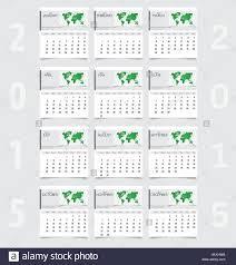 Simple 2015 Calendar Simple 2015 Year Calendar Vector Illustration Stock Vector Art