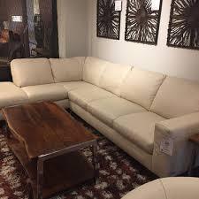 natuzzi cream leather sectional b845