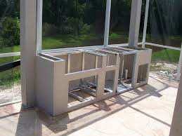 Chic Frames for Outdoor Kitchens With Steel Stud For Kitchen Island Framed  And Small Outdoor Kitchen