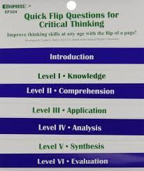 Bartons Cove Depth Chart Quick Flip Questions For Critical Thinking Linda G Barton