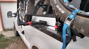 pickup truck side mount topper friendly bike rack holdup fat