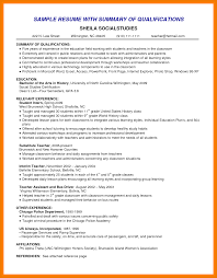 Resume Summary Statement Examples Internship Customer Service For