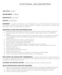 Position Description Template Administrative Assistant Job Sales