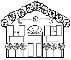 Printable Gingerbread House Coloring Pages Great Free Clipart