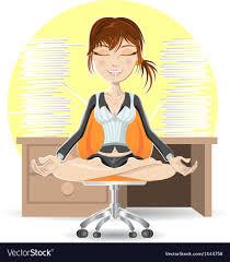meditation office. Meditation At The Office Vector Image H