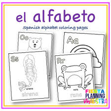 The spanish alphabet, or abecedario. Spanish Alphabet Coloring Page Worksheets Teaching Resources Tpt