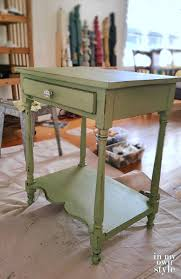 painted green furniture. MMS-Milk-paint-in-Luckett\u0027s-Green-and-Boxwood Painted Green Furniture