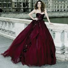 2015 gothic victorian ball gown wedding dresses halloween cosplay