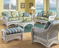 sunroom wicker furniture. White Wicker Furniture | Lanai Set Of 5 Sunroom
