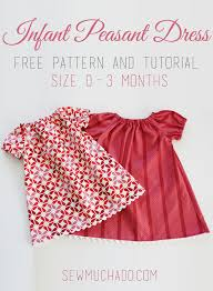 Peasant Dress Pattern Cool Infant Peasant Dress Free Pattern Sew Much Ado