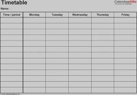 school schedule template new of blank school schedule template free weekly templates for word