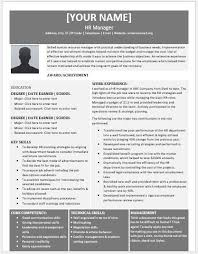 Hr Manager Resume Format Human Resource Manager Resume Contents Layouts Templates Resume