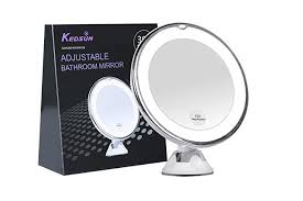 kedsum 6 8 10x magnifying led lighted makeup mirror