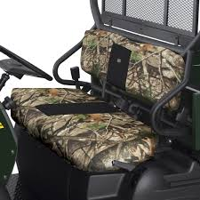 polaris ranger mid sized bench seat cover camo by quad gear