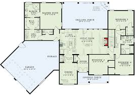 garage floor plans.  Garage Split Floor Plans With Angled Garage  60615ND Floor Plan Main Level On S