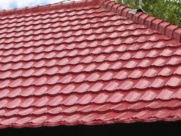 corrugated barrel tile roof