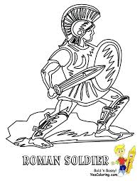 Roman Soldier Coloring Page Army Soldier Coloring Pages Roman Page