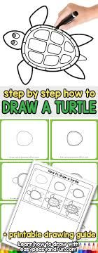 turtle drawing for kids. Brilliant For How To Draw A Turtle Step By Tutorial For Kids And Beginners To Drawing For Kids U