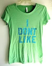 Lime Green Designer T Shirt Womens Lime Green M T Shirt Top Dont Like Leprechauns