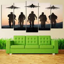 airplane wall decor canada soldiers and airplane 5 panel home decoration wall art pictures canvas on airplane canvas wall art canada with airplane wall decor canada best selling airplane wall decor from